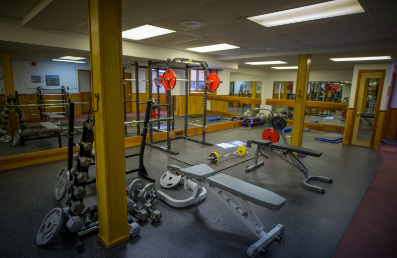 Fitness room at Baker Creek Mountain Resort.