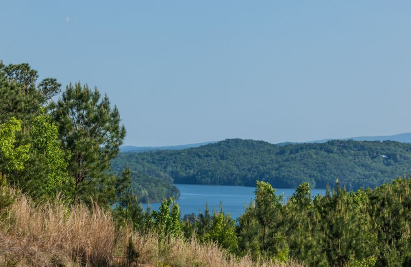 Lake view at Mountain Oasis Cabin Rentals.