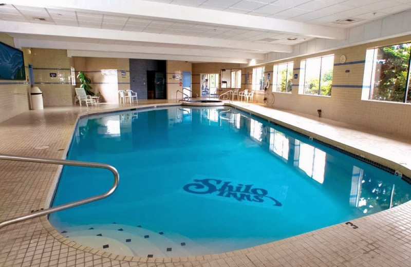 Indoor pool at Shilo Inn Tacoma.