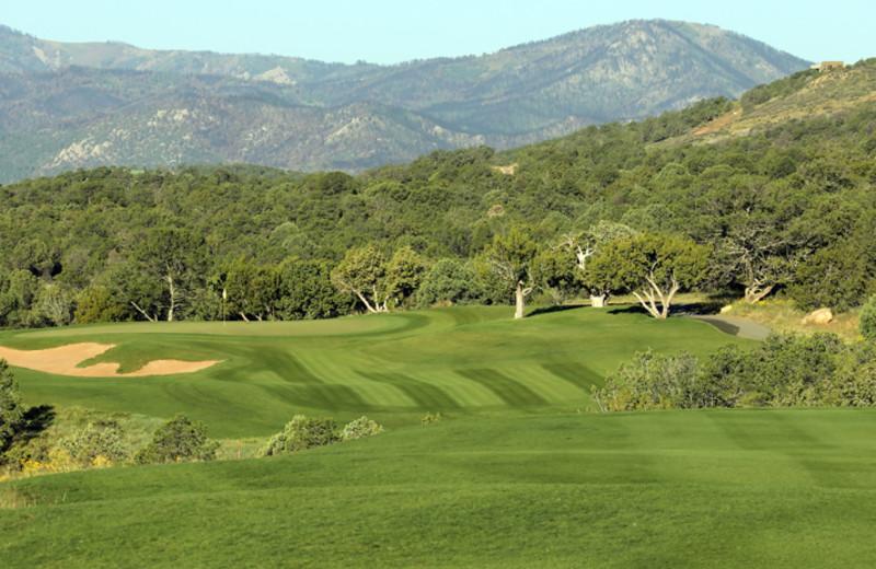Golf course near Hummingbird Cabins.