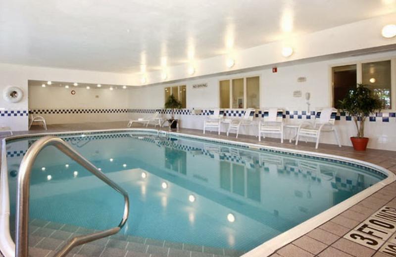 Indoor pool at Fairfield Inn Bay City.
