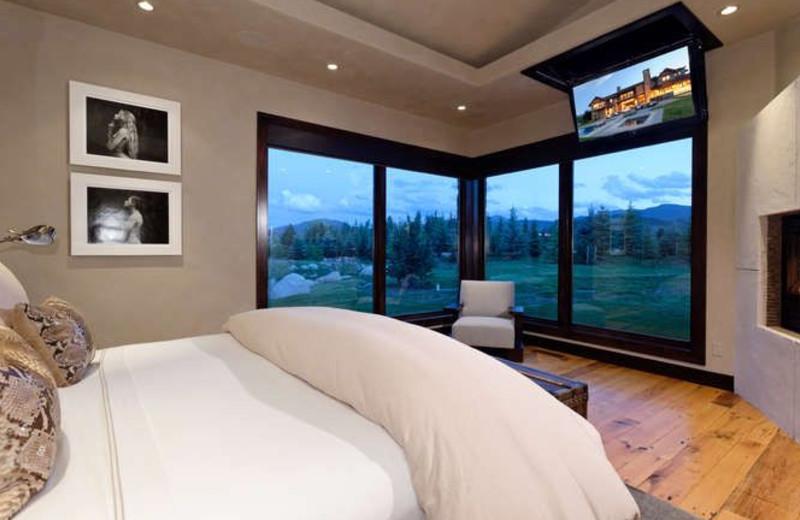 Rental bedroom at Aspen Luxury Vacation Rentals.