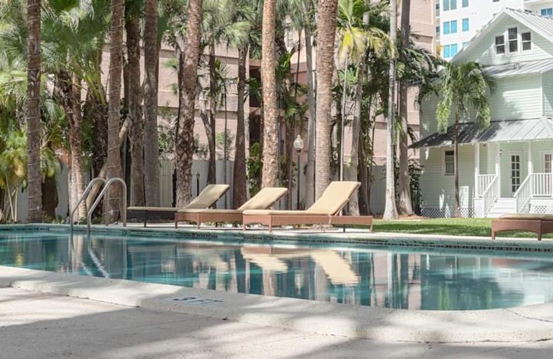 Outdoor pool at Miami River Inn.