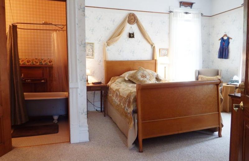 Guest room at Inn at Ludington.