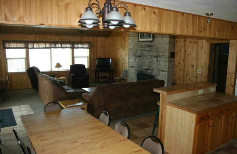 Group lodge at Ten Mile Lake Resort.