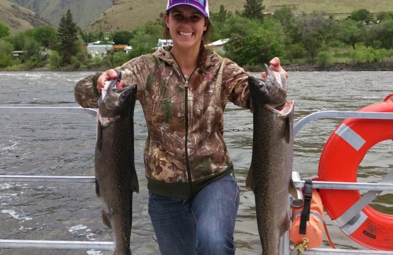 Fishing at Salmon River Tours.