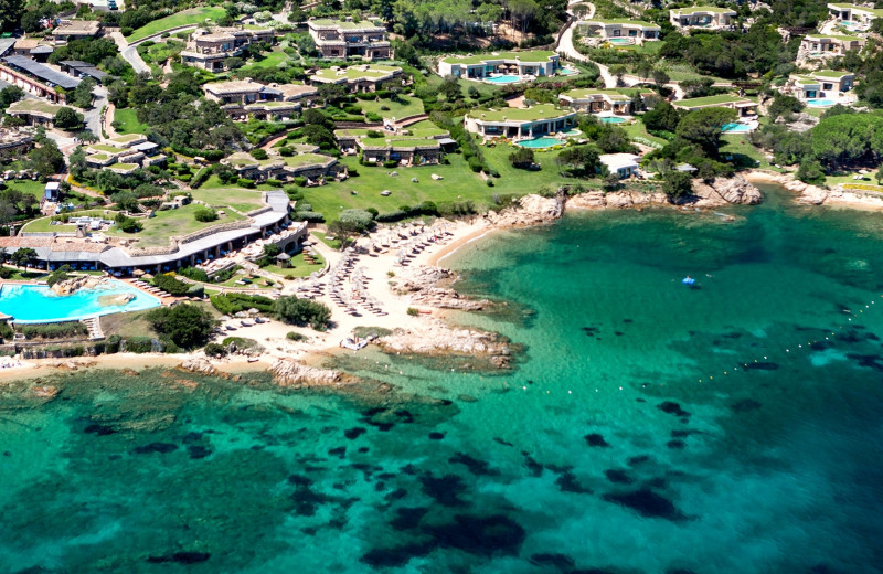Aerial view of Hotel Pitrizza.