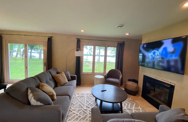 Rental living room at Lakes Area Rentals.