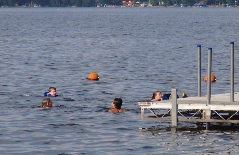 Swimming at Woodland Beach Resort.