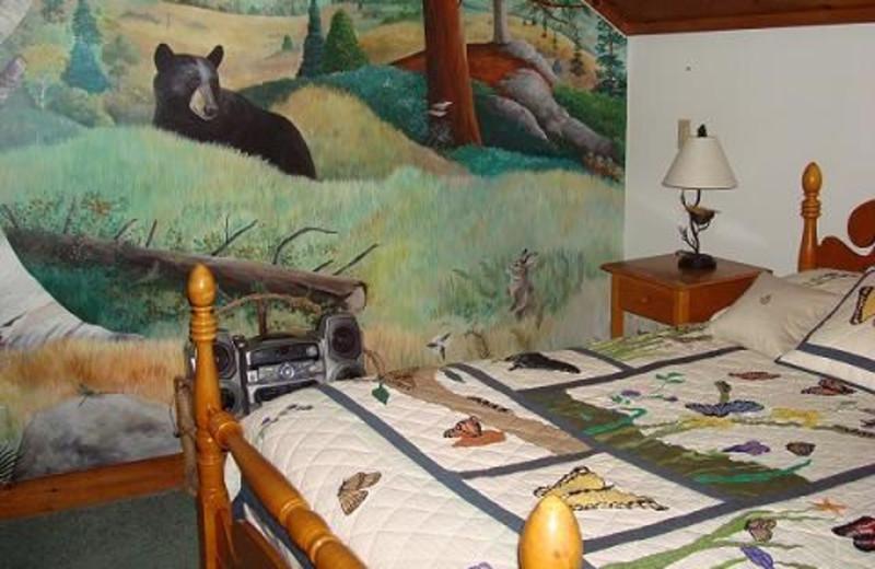 Bedroom at Camp Wildlife | On Mirror Lake
