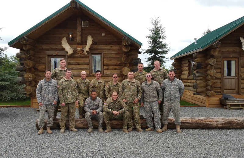 Group at Alaska's Gold Creek Lodge.