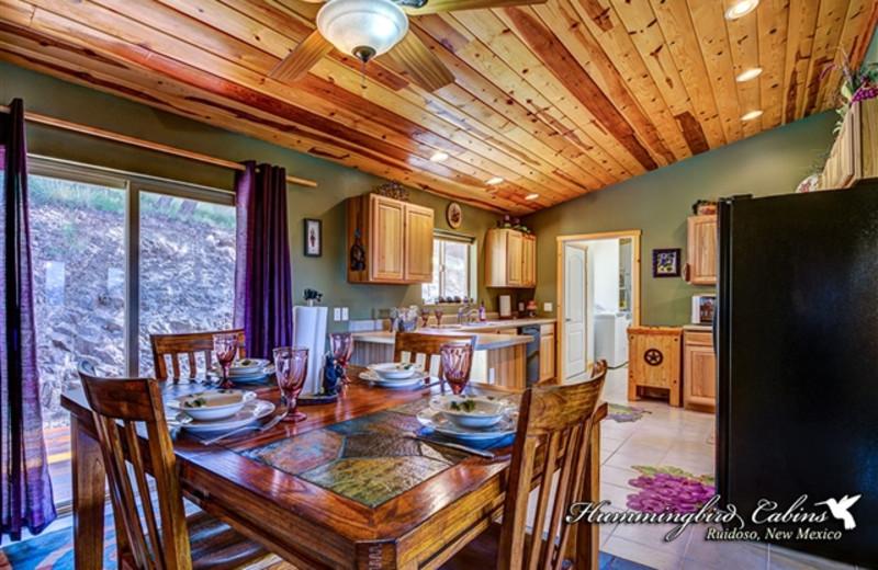 Dining Room/Kitchen in Hummingbird Cabis - Bear Crossing Vacation Rental