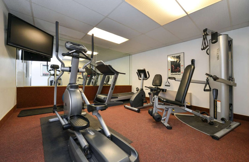 Fitness room at Best Western Coral Hills.