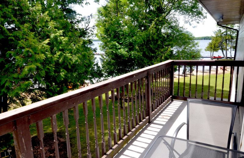 Guest balcony at Balsam Resort.