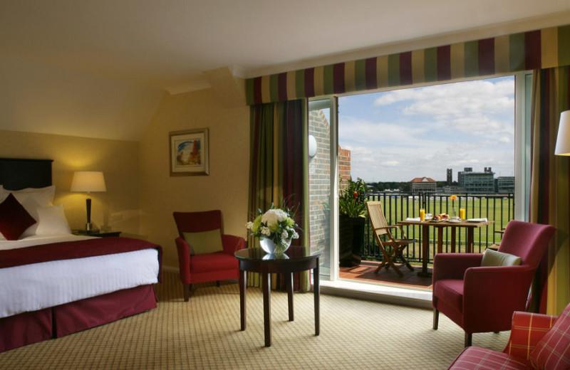 Guest room at York Marriott Hotel.