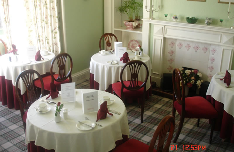 Dining at Ballifeary House.