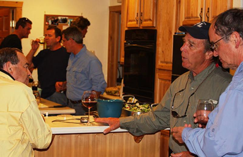 Kitchen at Montana River Lodge.