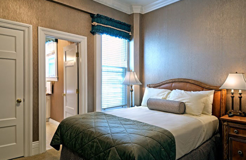 Guest room at The Powell Hotel.