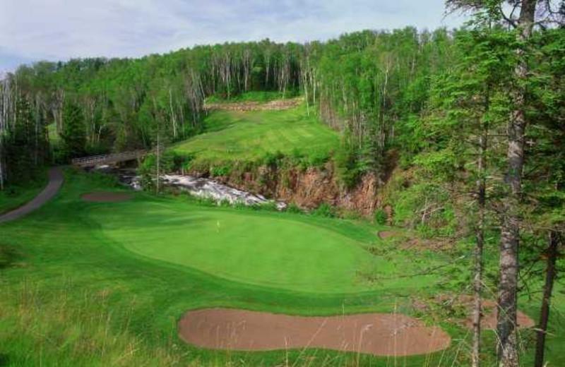 Golf course near Eagle Ridge at Lutsen Mountains.