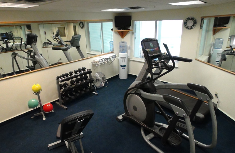 Fitness room at The Cherry Tree Inn & Suites