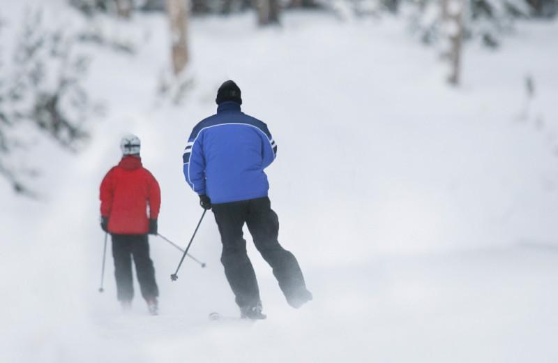 Skiing at Woodloch Resort.