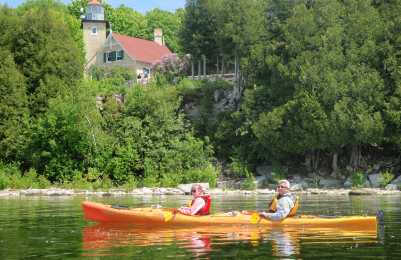 Kayaking at Waterbury Inn Condominium Resort.