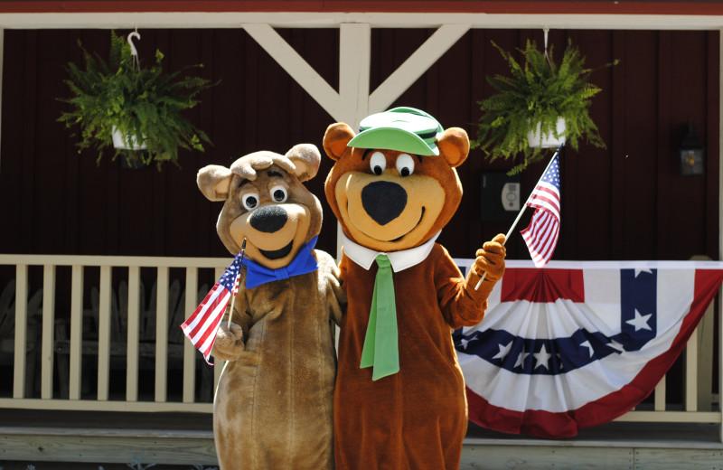 Mascots at Yogi Bear's Jellystone Park™ Camp-Resort in Gardiner, NY.