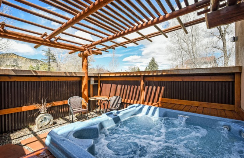 Hot tub at Chipeta Solar Springs Resort.