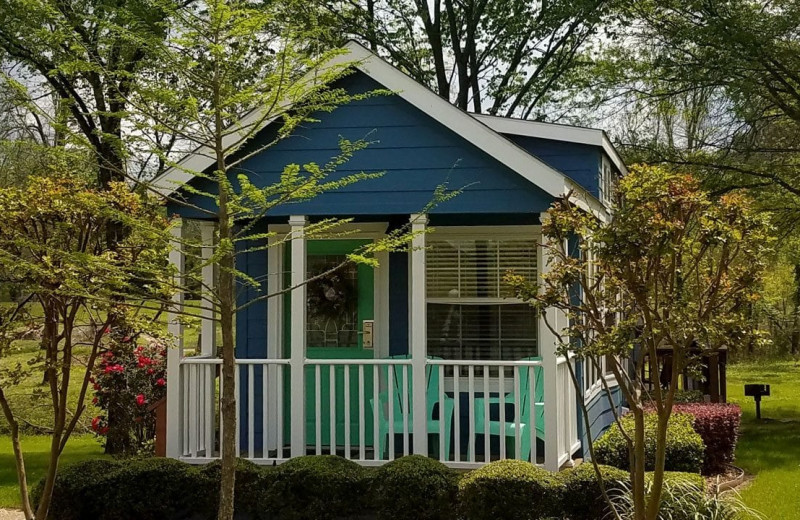 Cottage exterior at Mill Creek Ranch Resort.