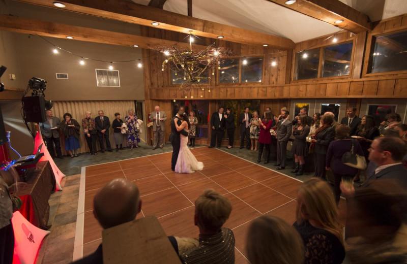 Wedding dance at Mountain Harbor Resort & Spa.