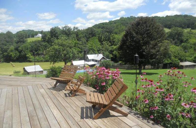 Porch view at Creekside Resort.