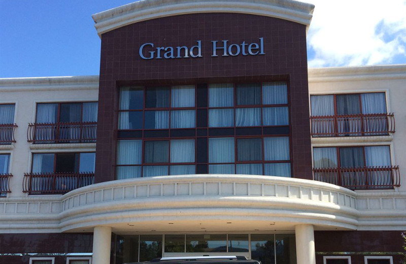 Exterior view of The Grand Hotel.