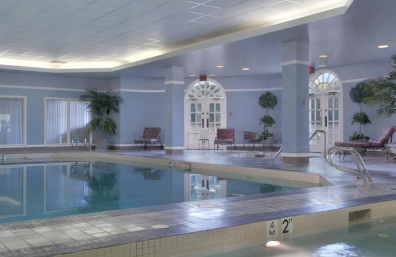 Indoor pool at The Fairmont Hotel Macdonald.