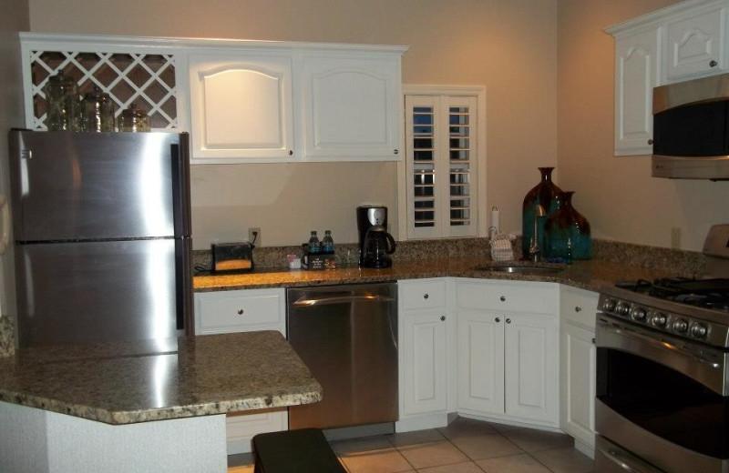 Guest kitchen at Fairway Suites.