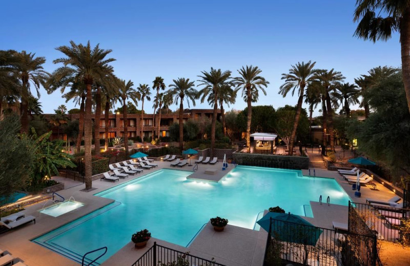 Outdoor pool at Hilton Doubletree Paradise Valley Resort of Scottsdale.
