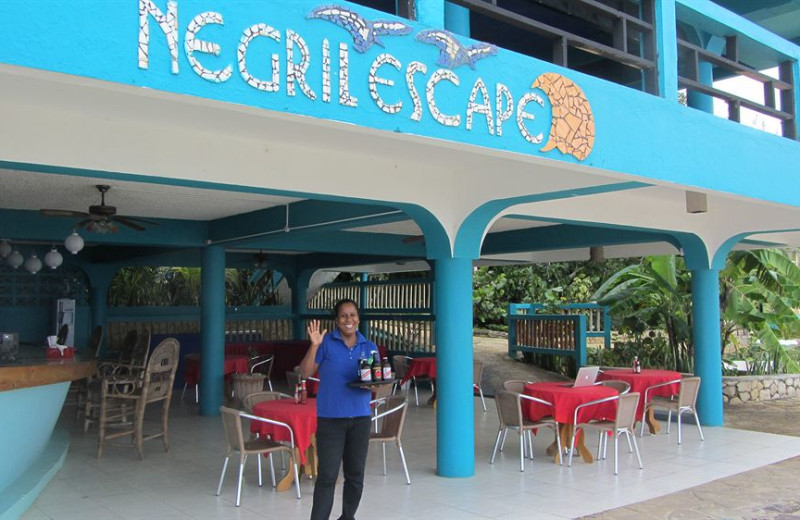 Dining at The Negril Escape Resort & Spa.