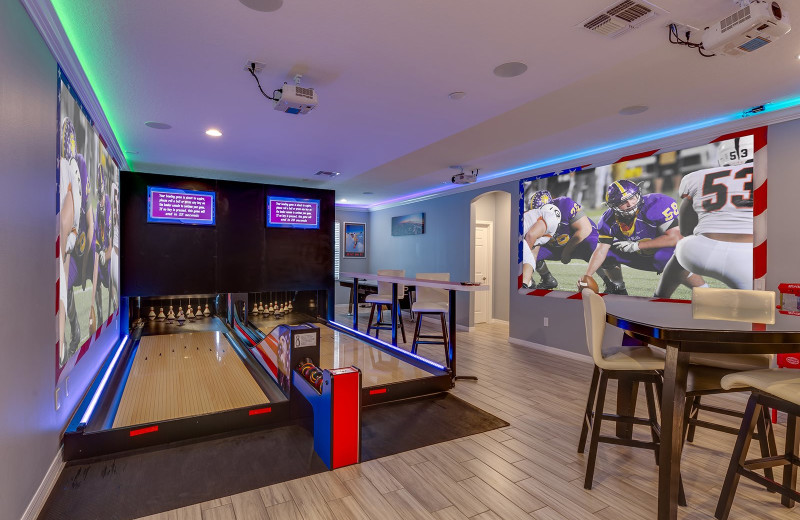 Rental bowling alley at Reunion Vacation Homes.