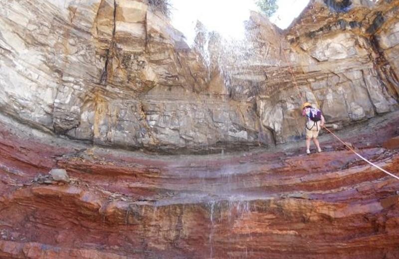 Rock climbing at Zion Ponderosa Ranch.