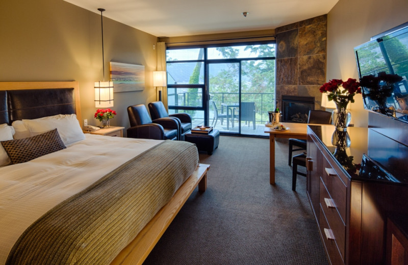 Suite Interior at Brentwood Bay Lodge