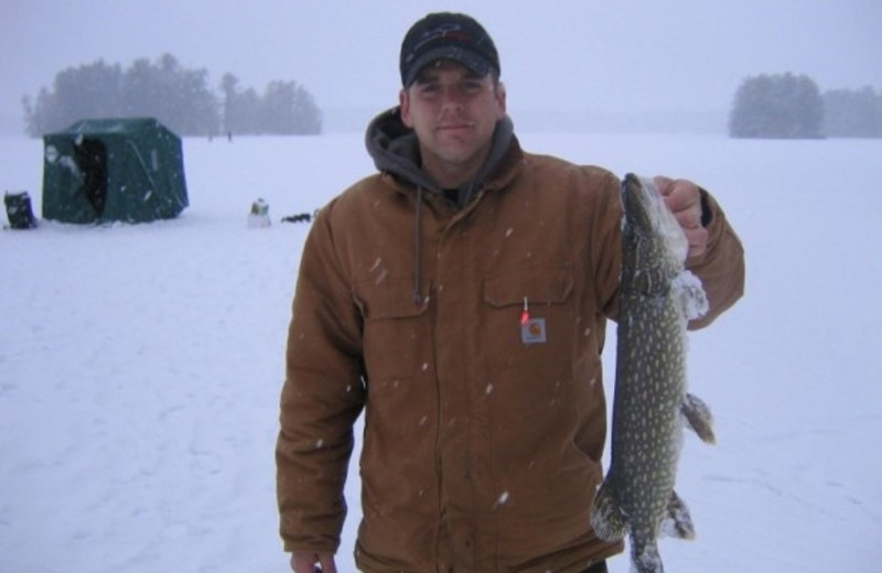 Ice fishing at The Conger Collection.