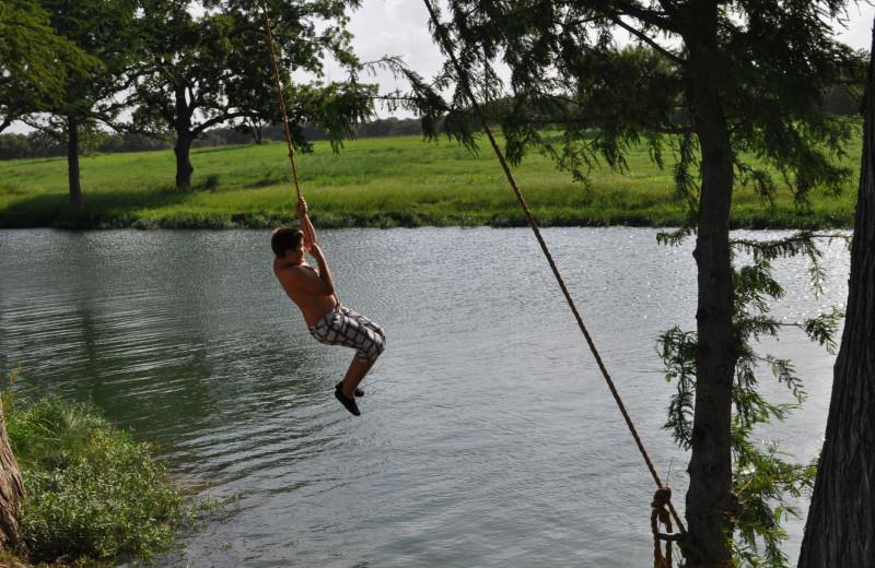 Swimming at Joshua Creek Ranch.