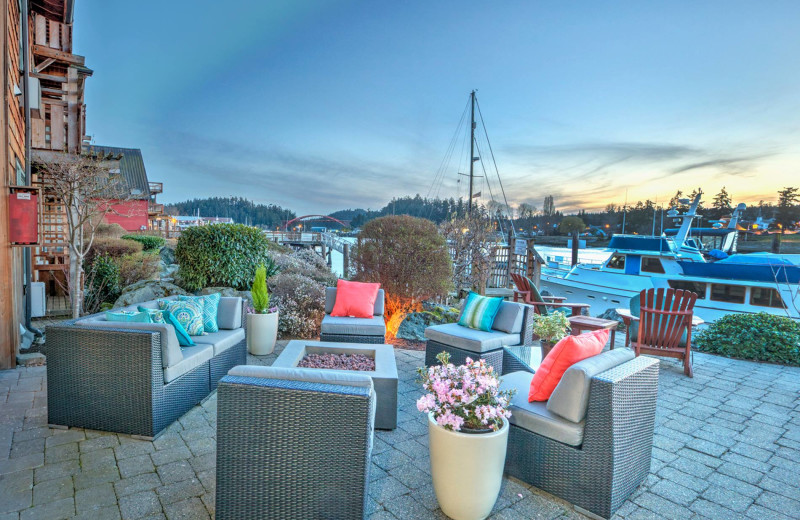 Patio with views of Swinomish Channel