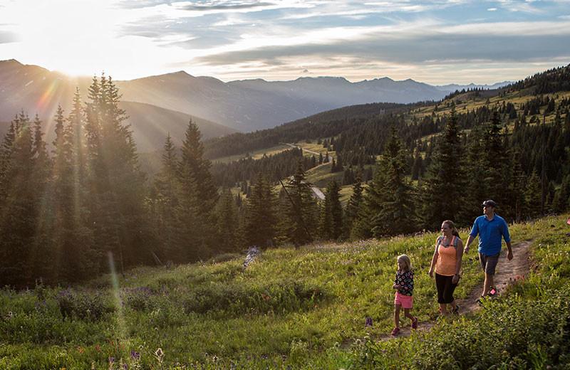 Hiking at Grand Colorado on Peak 8.