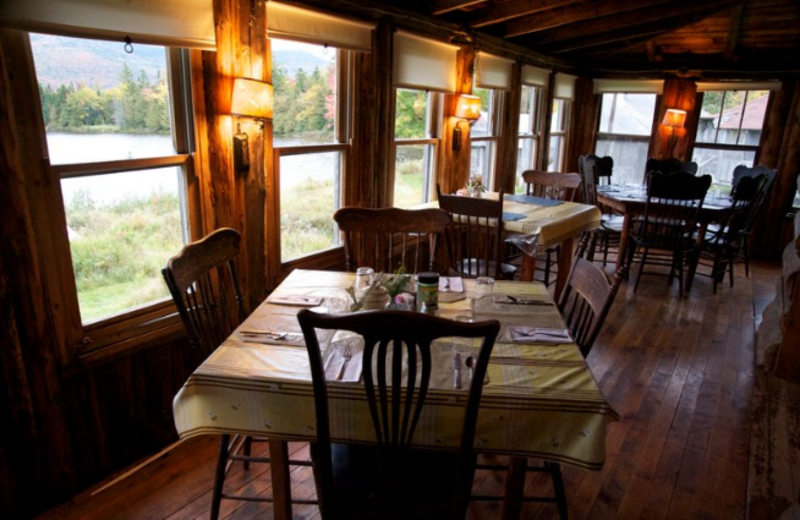 Dining Area at West Branch Pond Camps