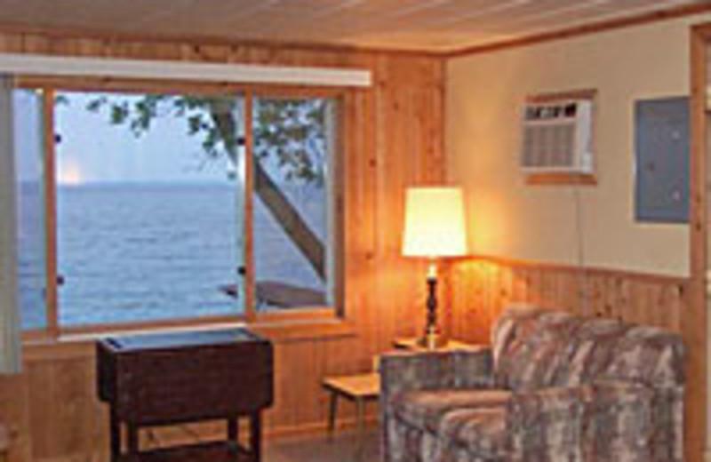 Cabin living room at Limmer's Resort.
