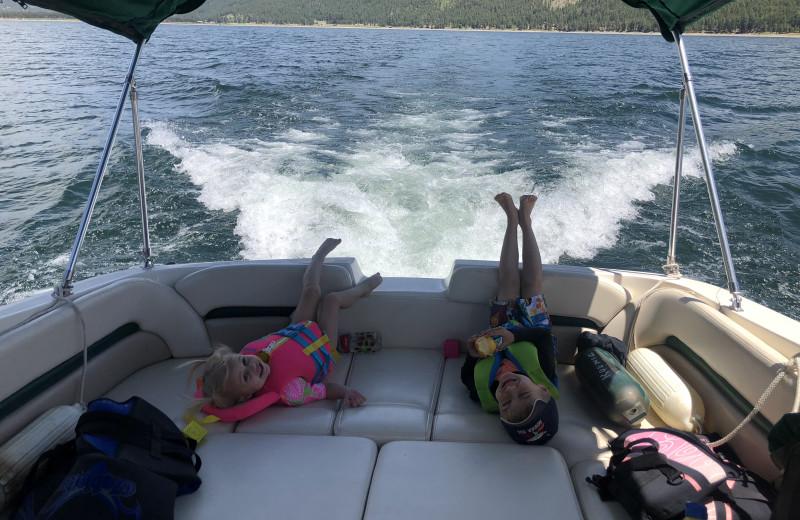Boating at Pine River Lodge.