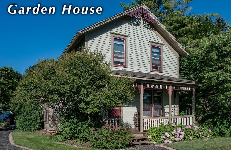 Garden house exterior at White Lace Inn.