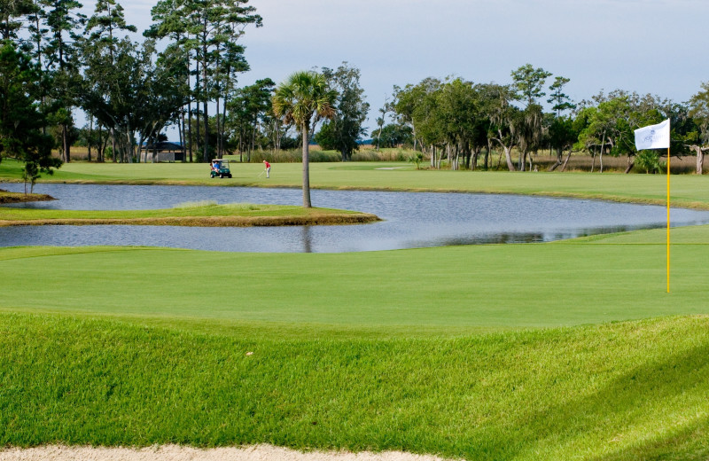 Golf course at Real Escapes Properties.