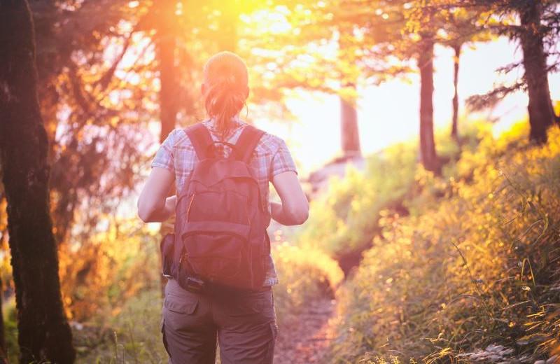 Hiking at  Lake Junaluska Conference & Retreat Center.