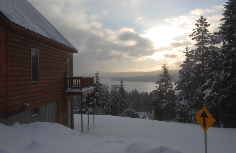 Winter time at Cabins at Lopstick.